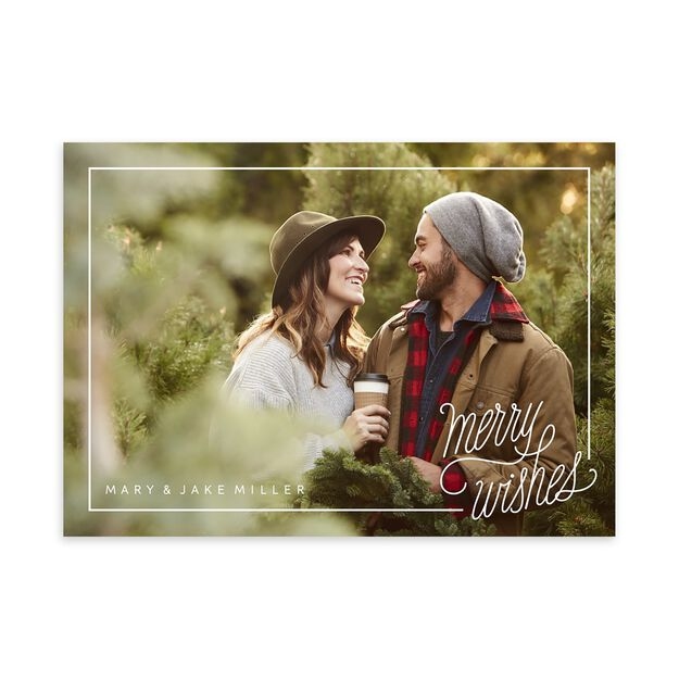 Simply Merry Wishes Holiday Full Photo Card