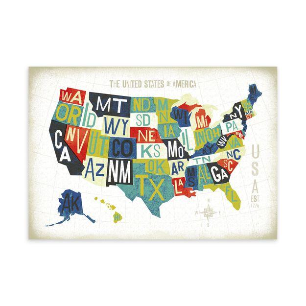 U.S. States Map Customer Appreciation Card
