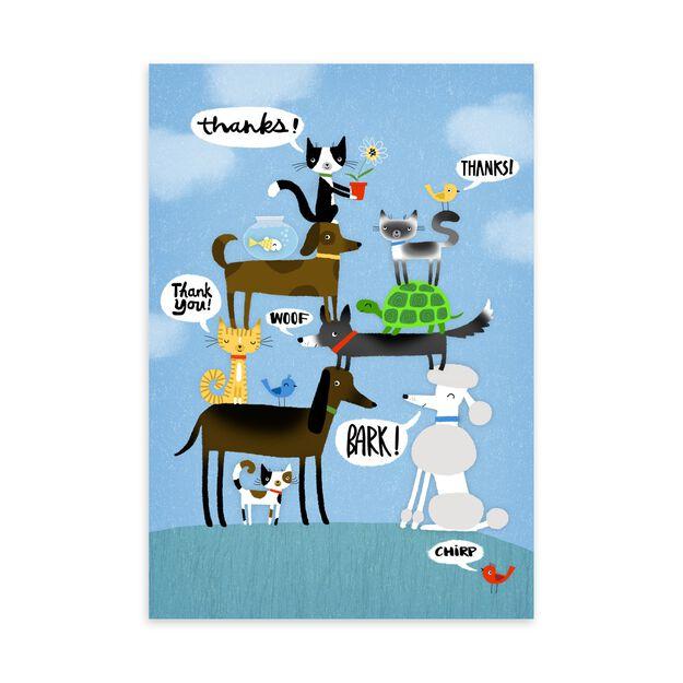 Pets & Appreciation Thank You Card