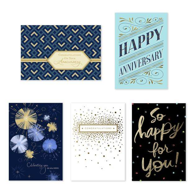 Anniversary, Retirement, Congrats Assorted Greeting Cards 25 Pack