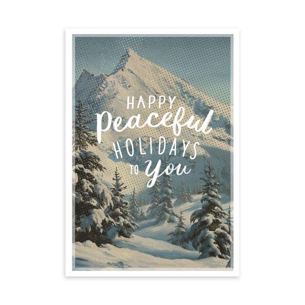 Vintage Mountain Illustration Holiday Card