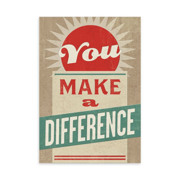 You Make a Difference Employee Appreciation Card