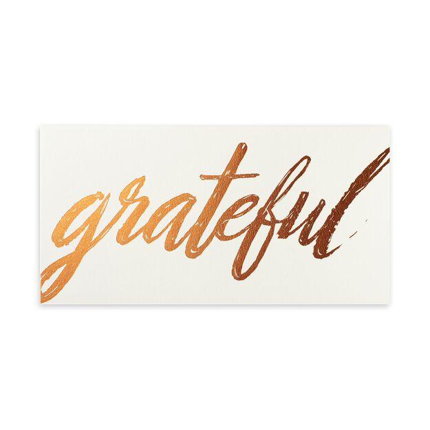 Grateful in Copper Appreciation Card