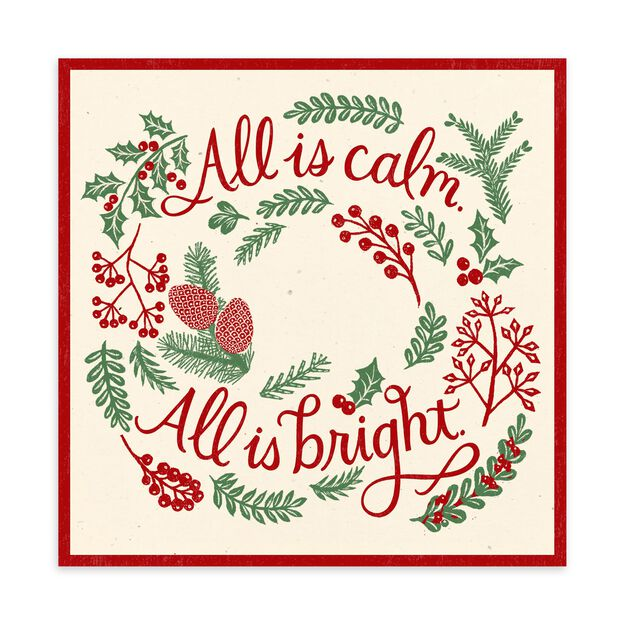 All Is Calm & Bright Christmas Card