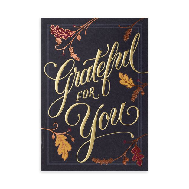 Grateful for You Premium Thanksgiving Card
