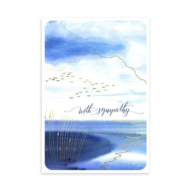 Watercolor Shore Sympathy Card