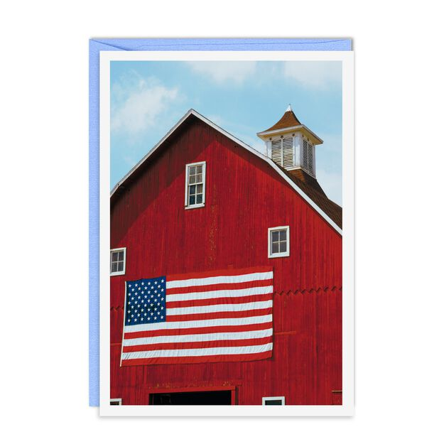 American Flag & Red Barn Patriotic