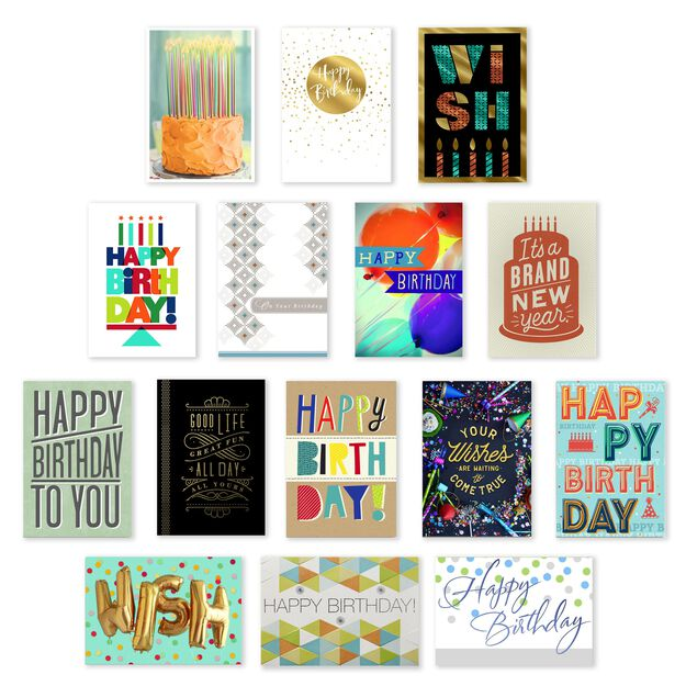 Assorted Value Birthday Cards 150 Pack