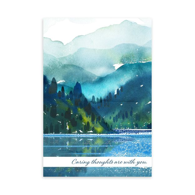 Lake & Mountains Caring Thoughts Card