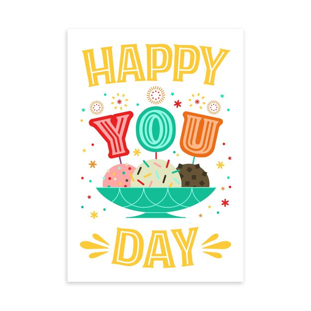 Happy You Day Ice Cream Birthday Card