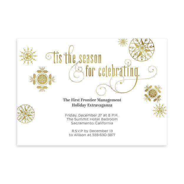 Season for Celebrating Customizable Invitation