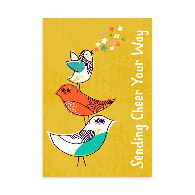Cheerful Chirping Birds Encouragement Card
