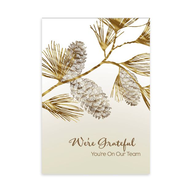 Grateful You're On Our Team Holiday Appreciation Card