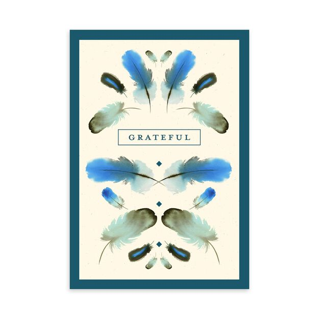 Blue Feathers Appreciation Card