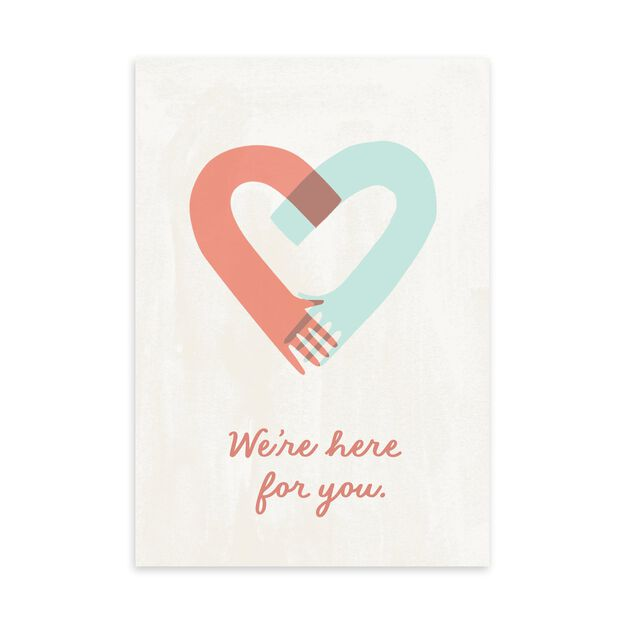 Here for You Hands & Heart Encouragement Card