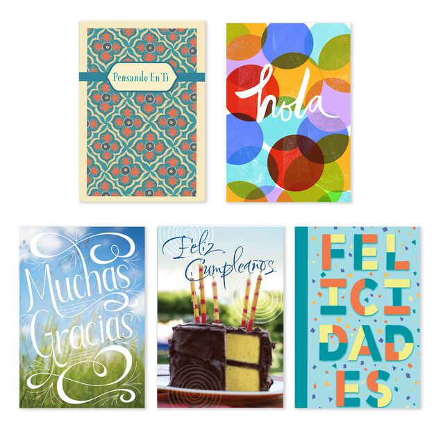 All Occasions Assorted Spanish Greeting Cards 25 Pack