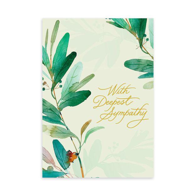 Peaceful Plants Sympathy Card