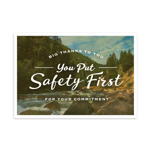 You Put Safety First Safety Appreciation Card