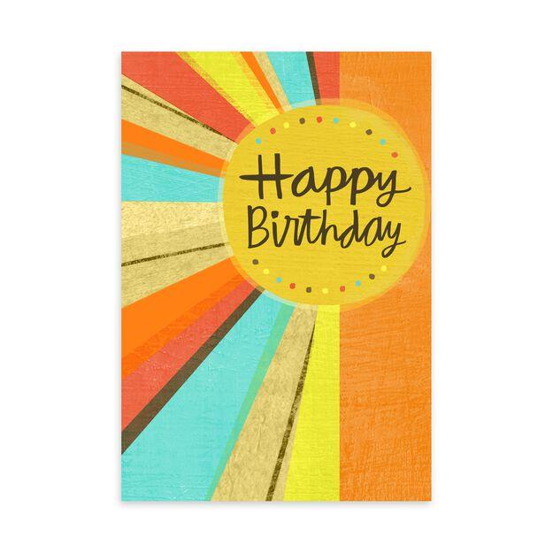 Sunshine Wishes Birthday Card