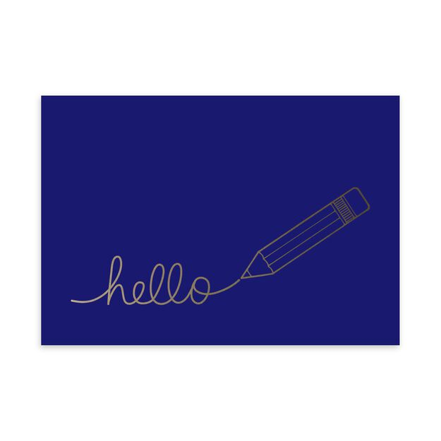 Silver Pencil Hello Just Because Card