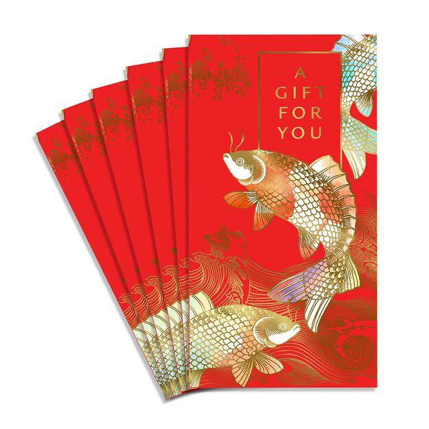 Golden Koi Lai See Red Envelopes 6 Pack