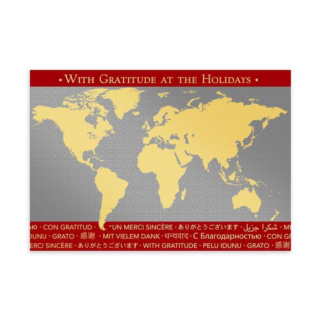 International Thanks Premium Holiday Card