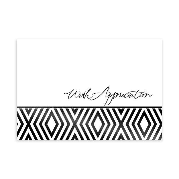 Classic Black & White Appreciation Card