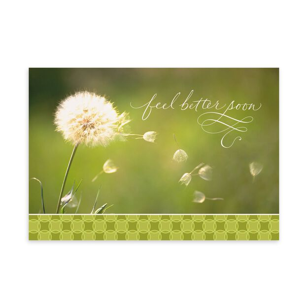 Feel Better & Dandelion Get Well Card