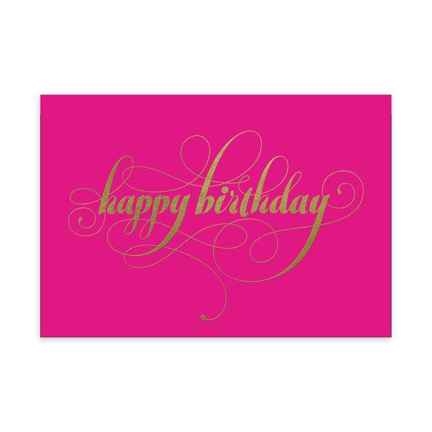 Gold & Pink Birthday Card