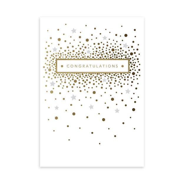 Gold & Gray Confetti Congratulations Card