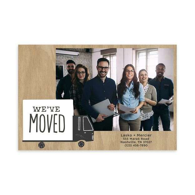 Moving Truck New Location Announcement Photo Postcard