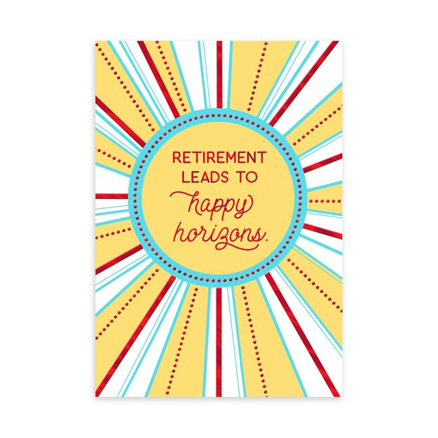 Happy Horizons Retirement Card