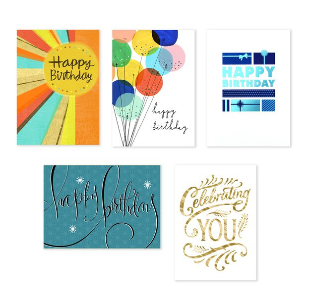 Classic Collection Assorted Birthday Cards 25 Pack