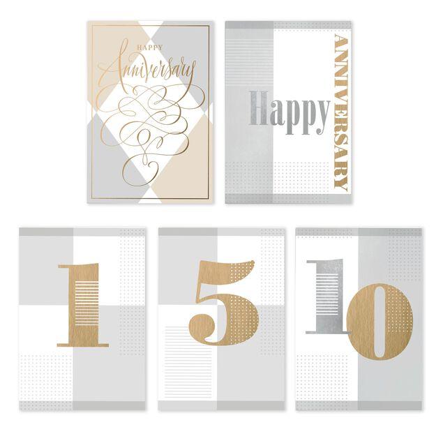Milestone & General Assorted Work Anniversary Cards 25 Pack