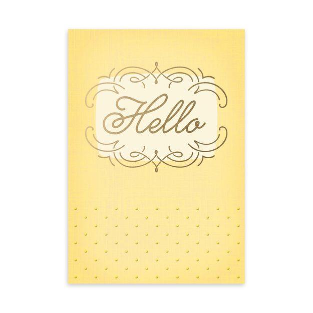 Yellow Elegant Hello Card