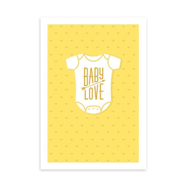 Yellow & White Onesie New Baby Card