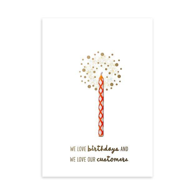 Red Candle & Appreciation Birthday Card