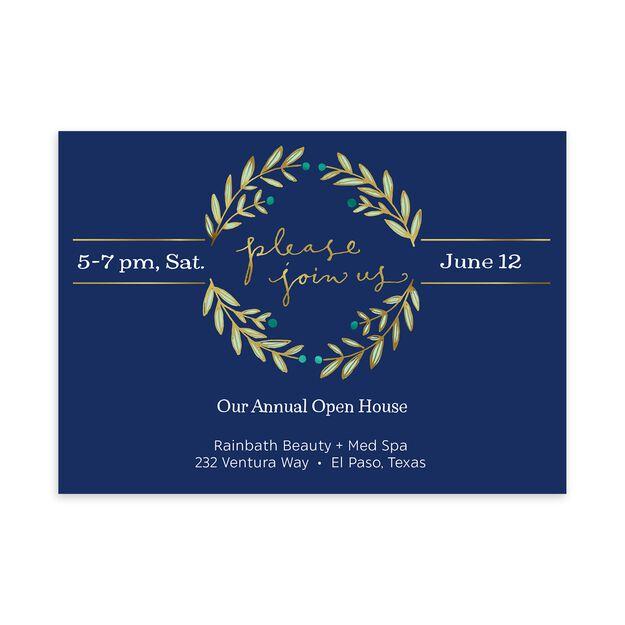 Join Us & Laurel Wreath Customizable Invitation