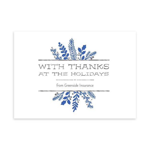 Shimmering Thanks Customizable Holiday Card