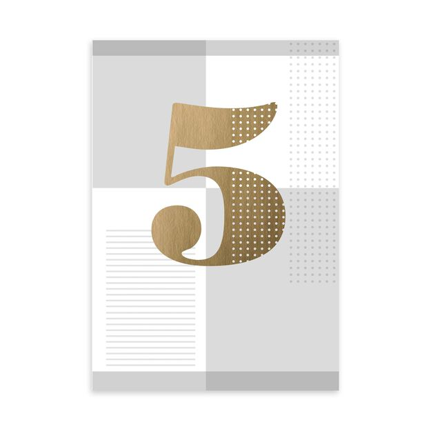 Gold & Silver 5-Year Work Anniversary Card
