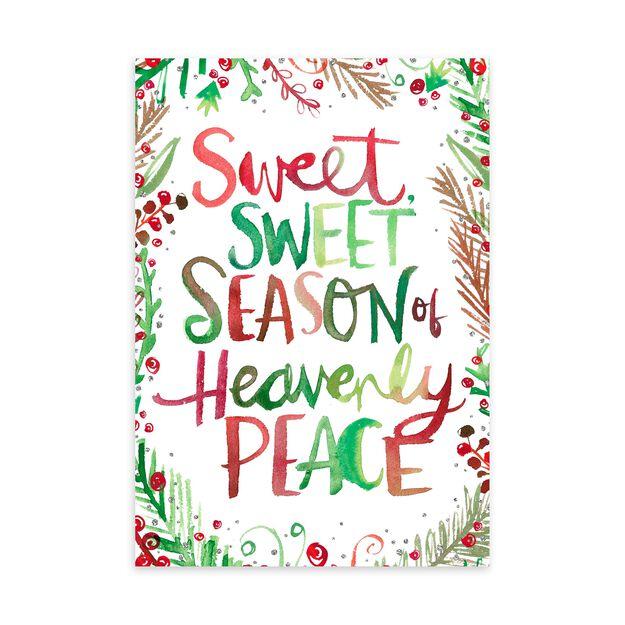 Sweet Heavenly Peace Religious Christmas Card