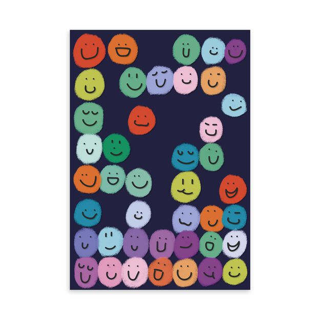 Colorful Smileys Just Because Card
