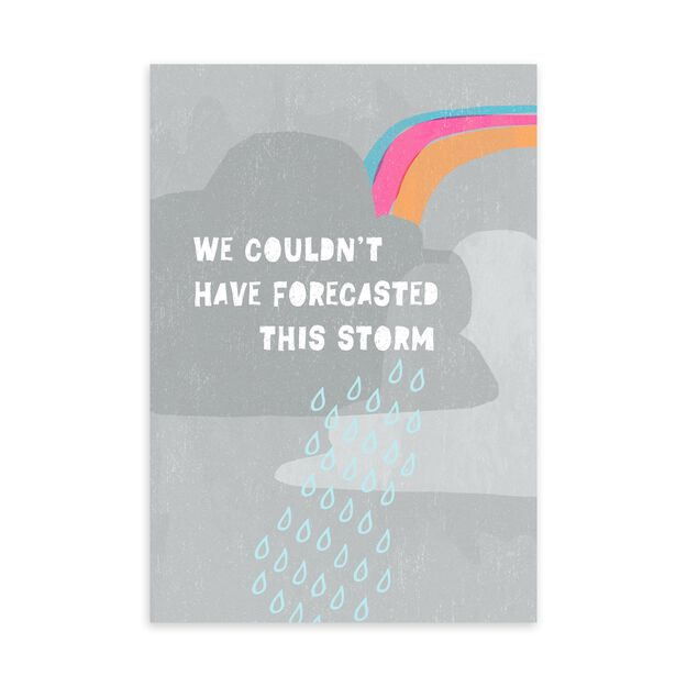 Couldn't Forecast Storm Apology Card