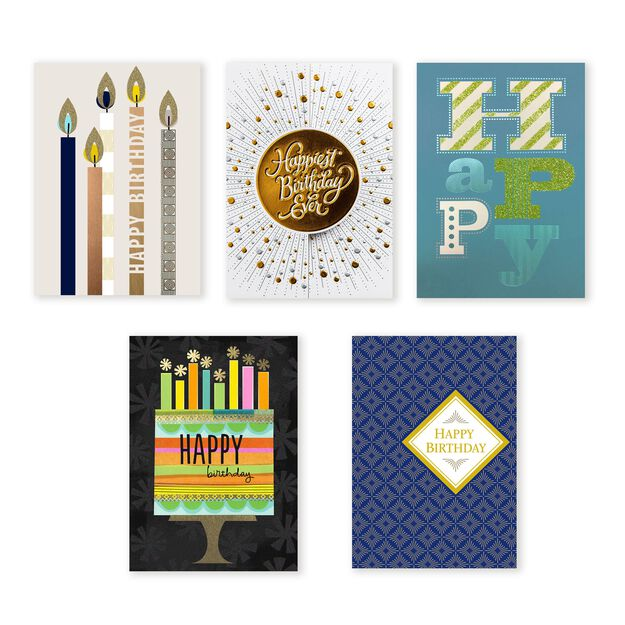 Premium Collection Assorted Birthday Cards 25 Pack