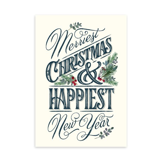 Merriest, Happiest Christmas & New Year Card