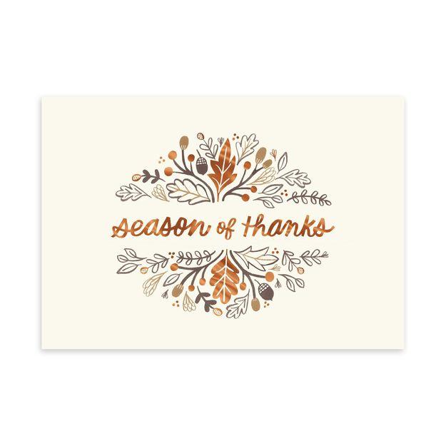 Season of Thanks Thanksgiving Card