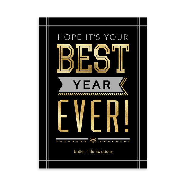 Your Best Year Ever Customizable New Year Card
