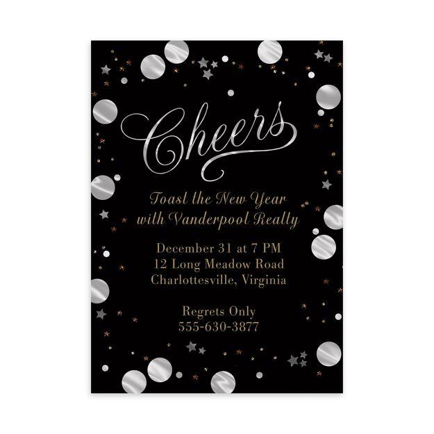 Shimmering Cheers Customizable Invitation