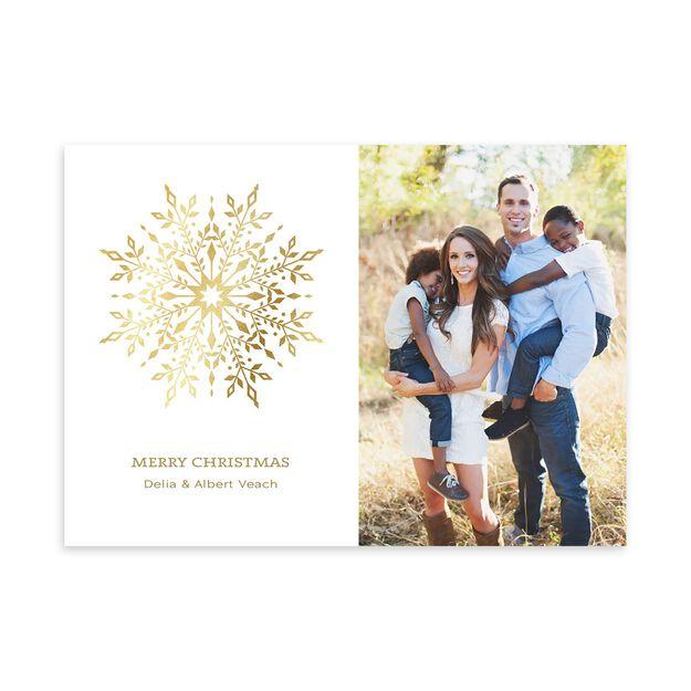 Gilded Snowflake Holiday Photo Card