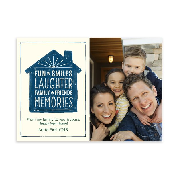 Fun, Smiles, Laughter New Home Photo Card